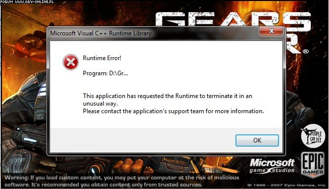 Gears of War - problem - Ilustracja 1/1 - forum gry-online.pl