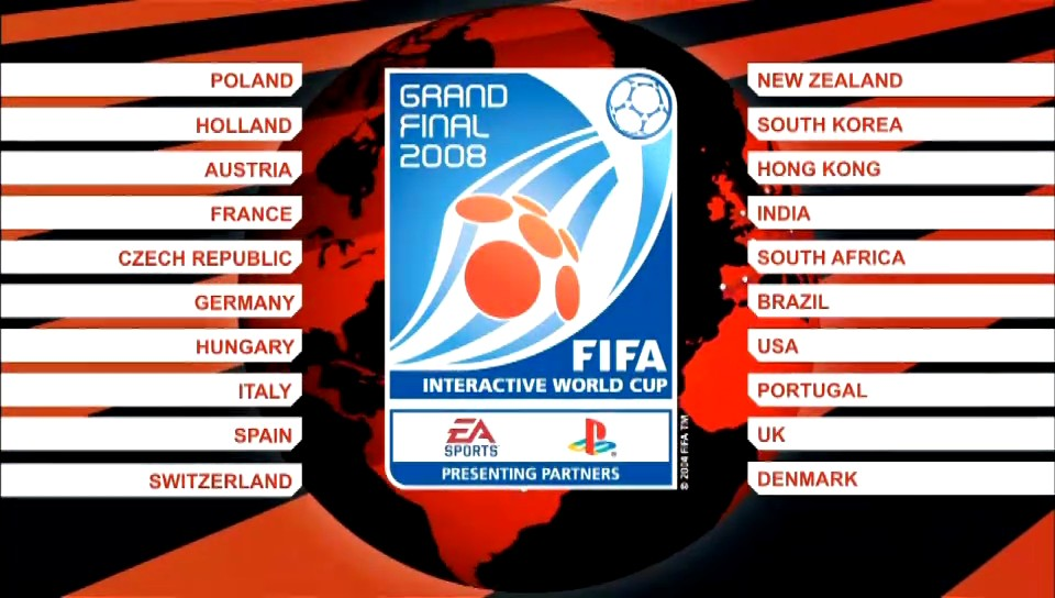 fina� mistrzostw FIFA 08