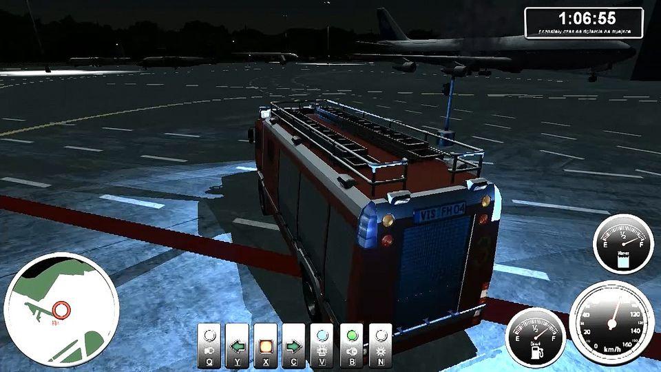 Symulator lotniskowej stra�y po�arnej gameplay #1