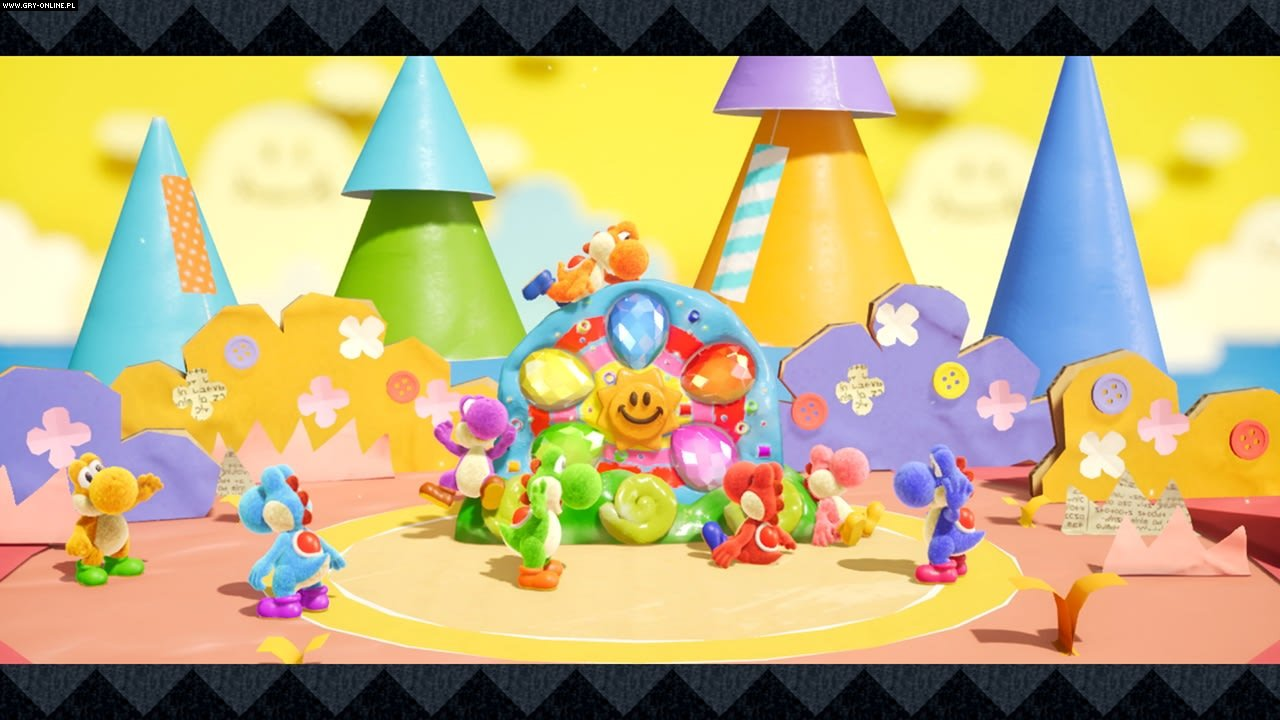 Yoshi's Crafted World Switch Gry Screen 8/24, Good-Feel, Nintendo