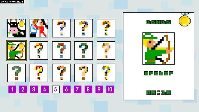 Pic-a-Pix Deluxe Switch Gry Screen 2/4, Puzzle on Word Games Inc., Lightwood Games