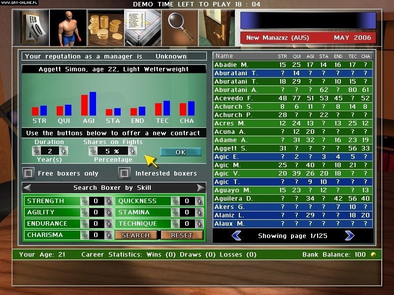 Universal Boxing Manager - screenshots gallery ...
