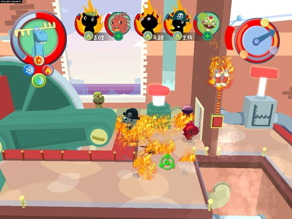 Description and gameplay Happy Tree Friends False Alarm is an actionadventure game utilizing a physicsbased reactive environment It is similar in some regards