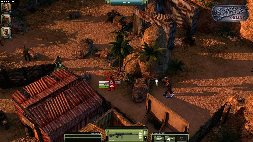 Jagged Alliance Online WWW Gry Screen 5/21, Cliffhanger Productions, bitComposer Games