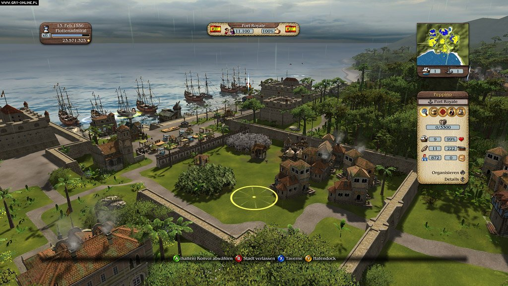 Port Royale 3: Pirates & Merchants X360, PS3 Gry Screen 22/46, Kalypso ... Pirates