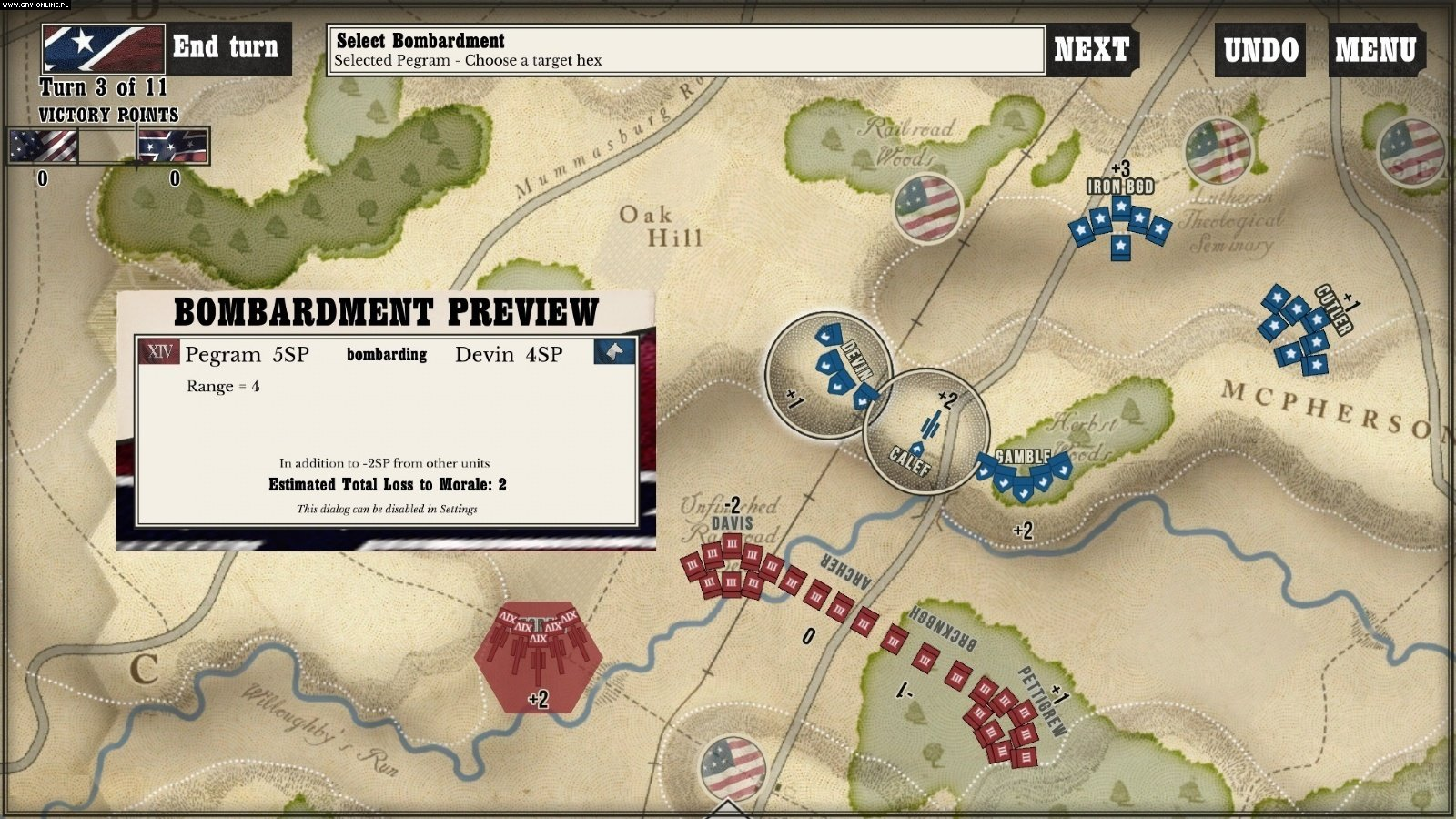 Gettysburg: The Tide Turns PC, iOS Games Image 1/4, Shenandoah Studio, Matrix Games/Slitherine
