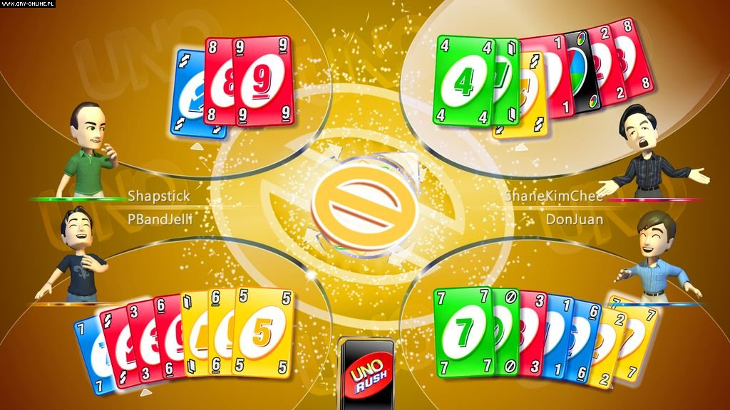 View screen on original uno card game