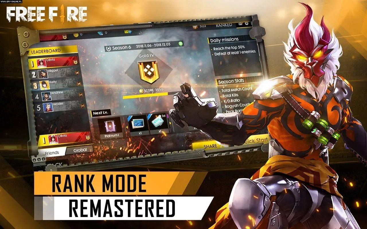 Garena Free Fire iOS, AND Games Image 4/5, Garena