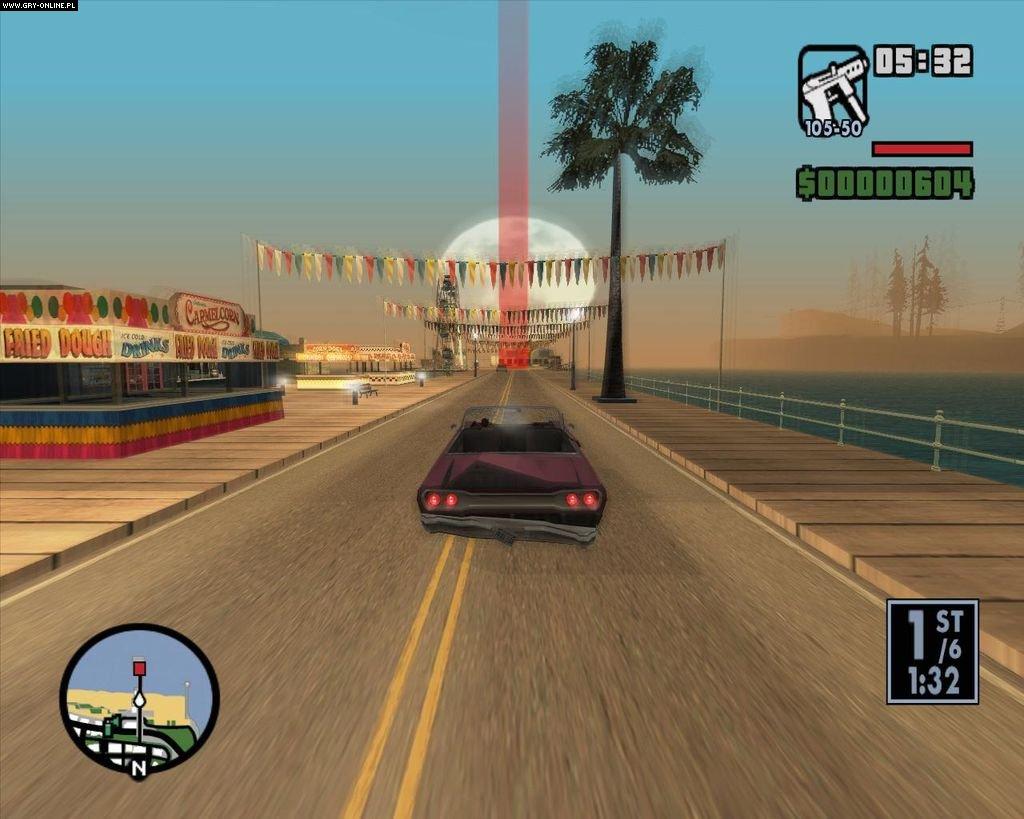 Grand Theft Auto: San Andreas (gra) - screen 17/115, Obrazki z gry, zdj�cie z gry w wersji PC, Akcji, Take 2 Interactive, Cenega S.A., TPP, samochodowe, gangsterskie, sandbox, multiplayer, TPS, kooperacja, lata 90. - data publikacji: 2004-06-14 14:25:10 - gry-online.pl