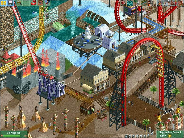 RollerCoaster Tycoon II PC Gry Screen 4/10, Frontier Developments/Chris Sawyer, Atari / Infogrames