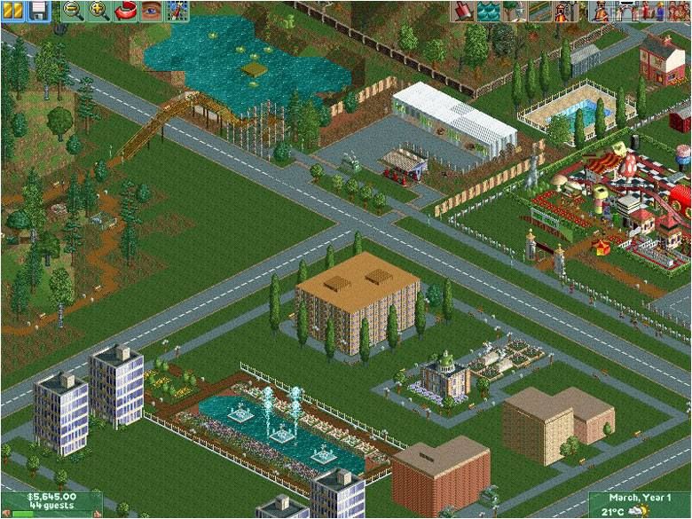 RollerCoaster Tycoon II PC Gry Screen 2/10, Frontier Developments/Chris Sawyer, Atari / Infogrames