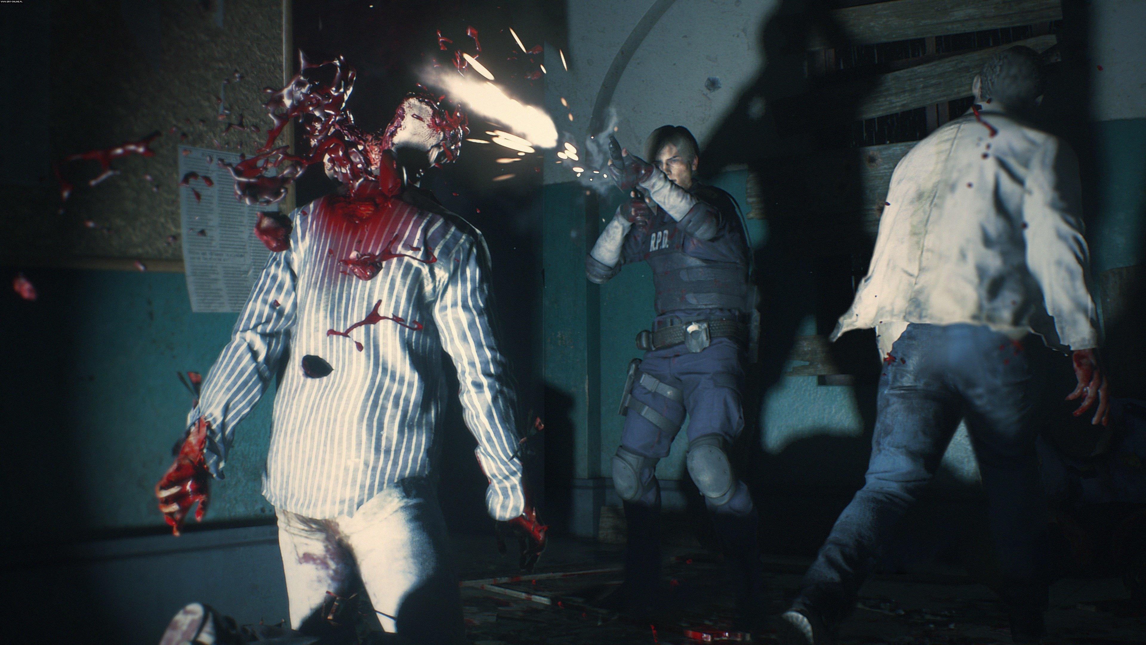 Resident Evil 2 Remake gameplay, leon shotgun fonte: reprodução.