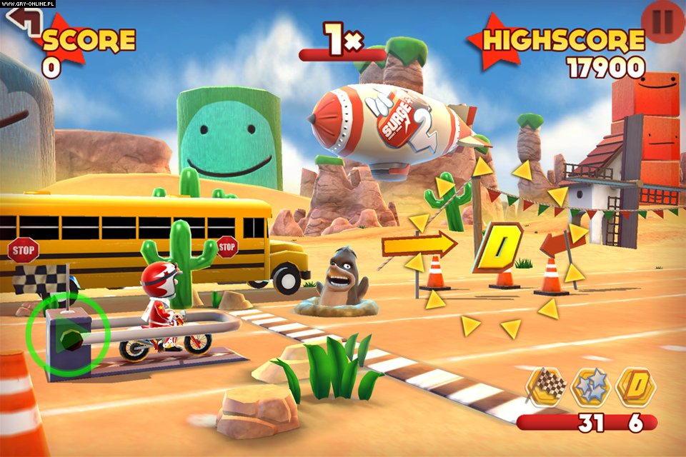 Joe Danger Touch iOS, AND Gry Screen 1/2, Hello Games