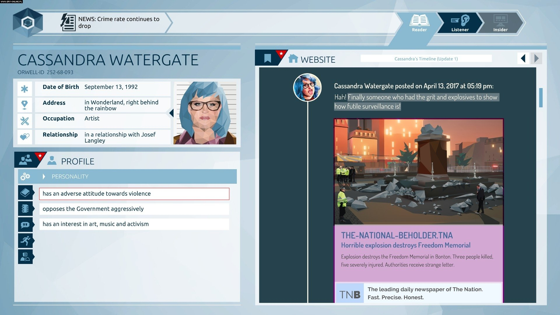 Orwell: Keeping an Eye on You PC Gry Screen 5/8, Osmotic Studios, Surprise Attack Games / Fellow Traveller