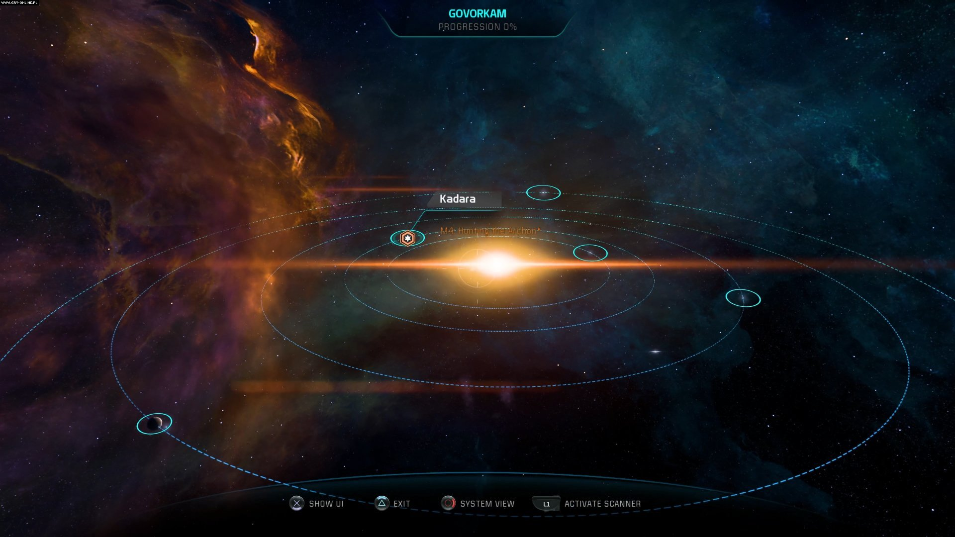mass effect andromeda how to open map