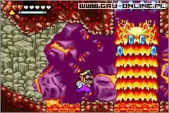 Wario Land 4 (gra) - screen 4/6, Screeny z gry, zdj�cie z gry w wersji GBA, zr�czno�ciowe, Nintendo - data publikacji: 2004-09-07 10:26:29 - gry-online.pl